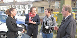 Anne-Marie with residents in Belford