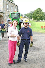 Anne-Marie with the Chief Fireman at the Netherwitton Fete