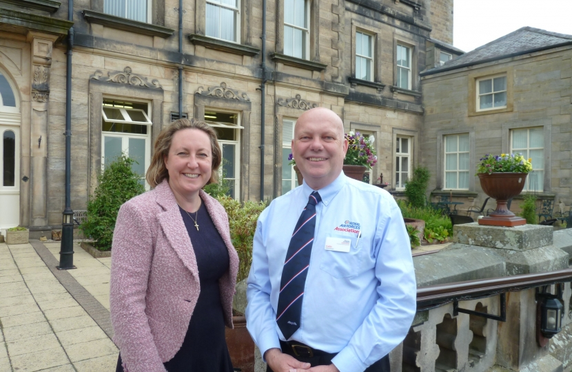 With Colin Lee Manager of Rothbury House