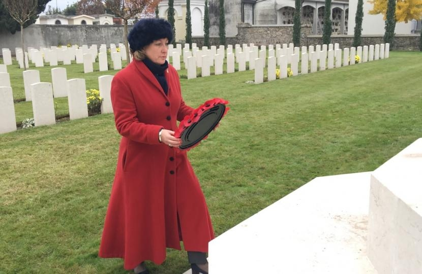 Anne-Marie at Remembrance Service