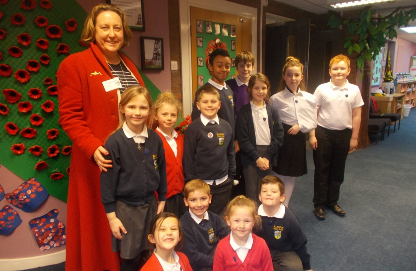 Anne-Marie meets the School Council