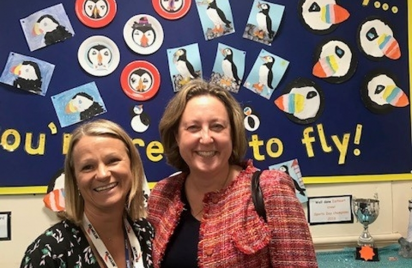 Anne-Marie with Headteacher Helen Bruce
