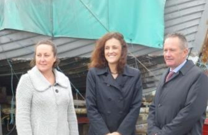 Anne-Marie, Theresa Villiers MP and Nick Spurr.
