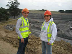Anne-Marie at Stobswood Open Cast Mine